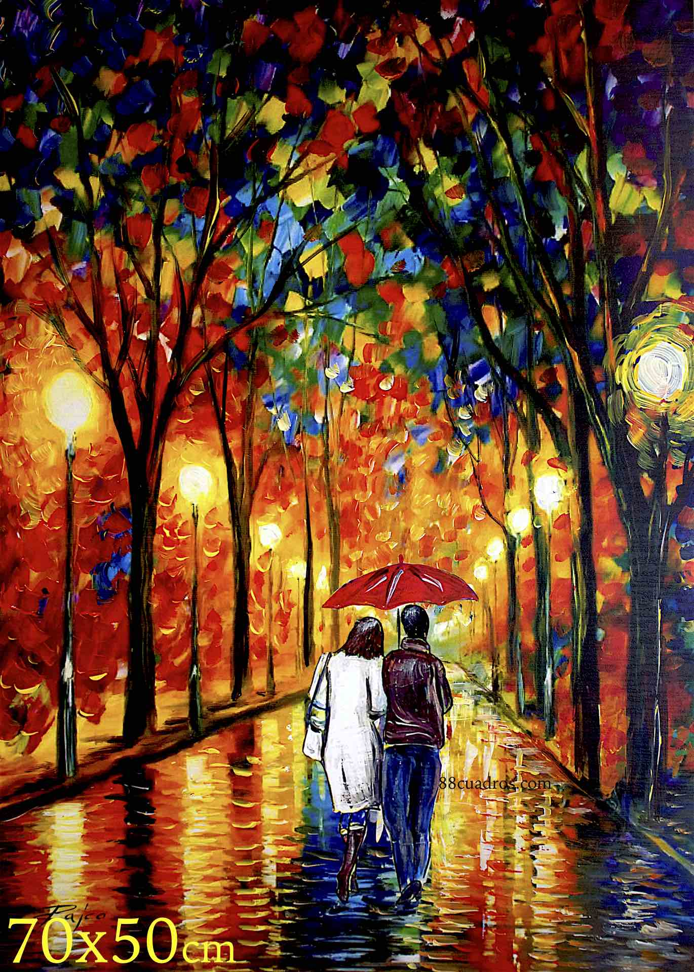 Paraguas rojo 88 cuadros a 8 euros for Enmarcar cuadros precios